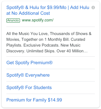 Copies for Google Ads