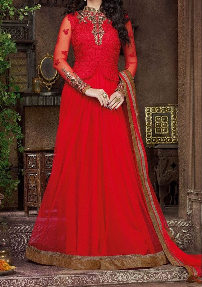 Snow White Fabulous Designer  Anarkali Style Suit