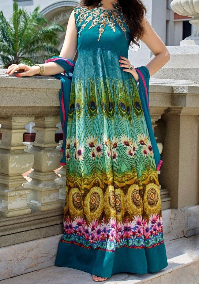 Bang Bang Digital Print Designer Anarkali Suit