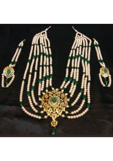 7 Layer Gold Plated Heavy Long Necklace Set