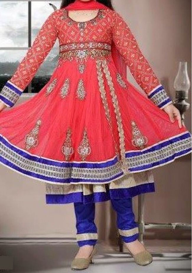 Exclusive Girl's Party Wear Designer Anarkali Suit