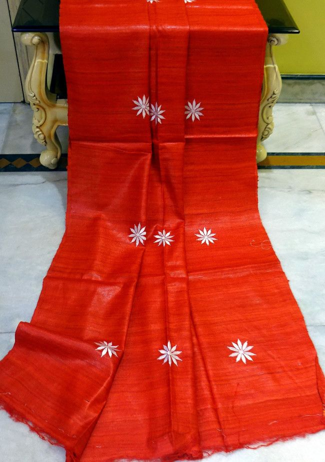 Exclusive Traditional Designer Tussar Silk Saree