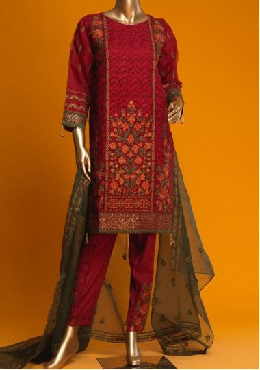Bin Saeed Exclusive Formal Stitched Organza Suit