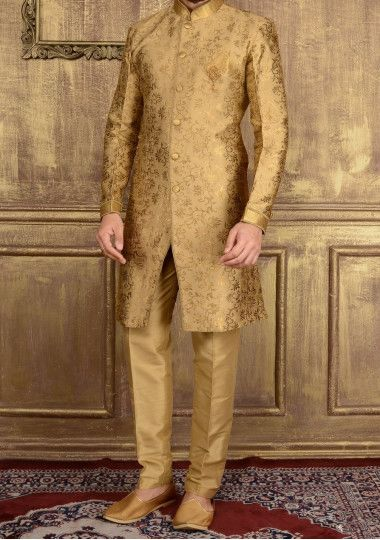 Men's Indo Western Party Wear Sherwani Suit