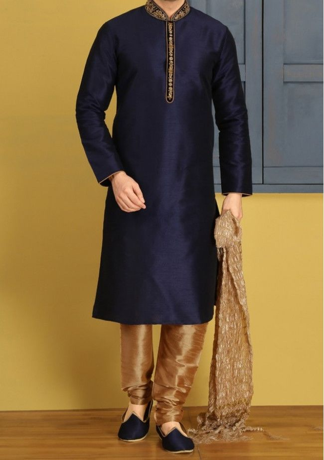 Men's Traditional Party Wear Indian Readymade Kurta Pajama