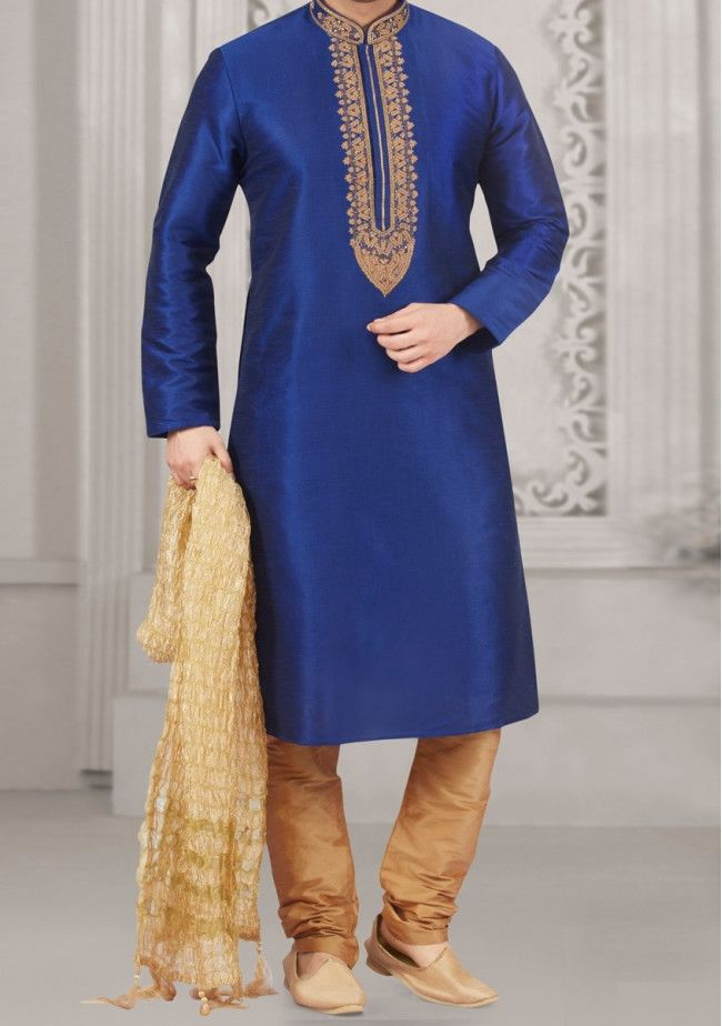 Exclusive Mens Designer Punjabi Pyjama Suit