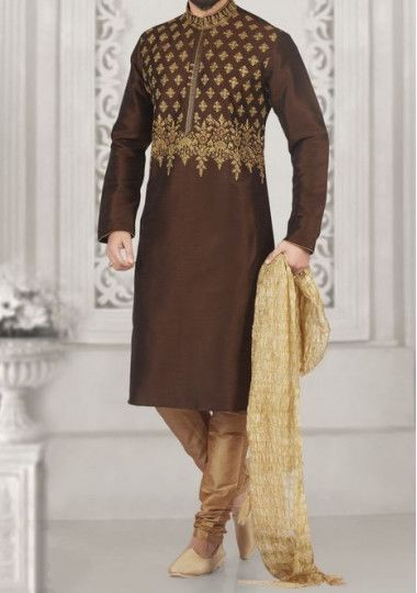 Men's Readymade Party Wear Art Silk Kurta Pajama