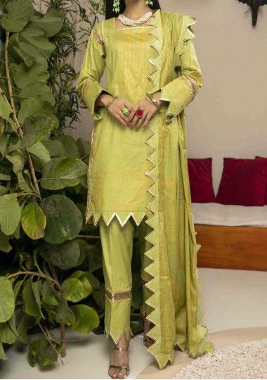 Alzohaib Pearl Printed  Cambric Pakistani Dress