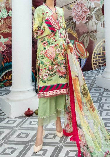 Adan's Libas Embroidered Pakistani Luxury Lawn Dress