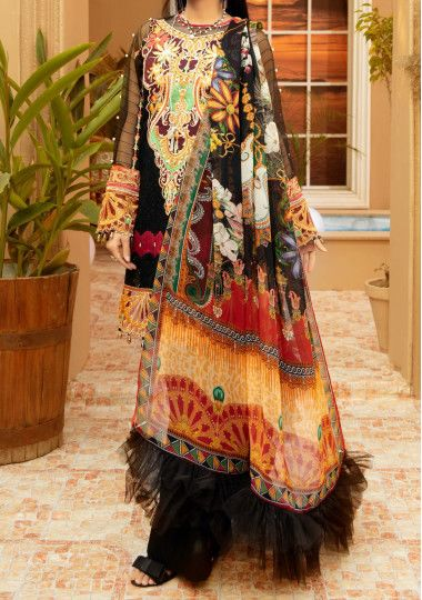 Adan's Libas Schiffli Embroidered Pakistani Lawn Dress