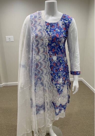 Embroidered Pakistani Lawn Boutique Dress