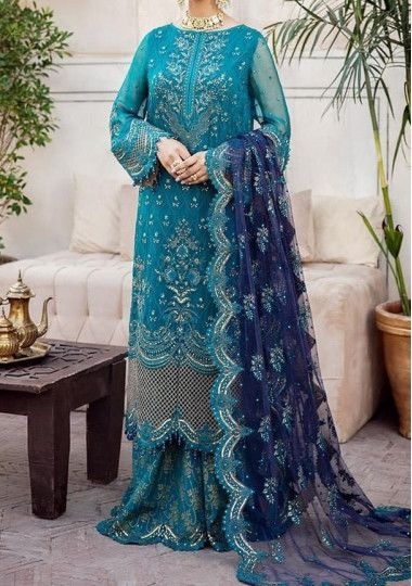 Afrozeh Embroidered Pakistani Master Copy Dress