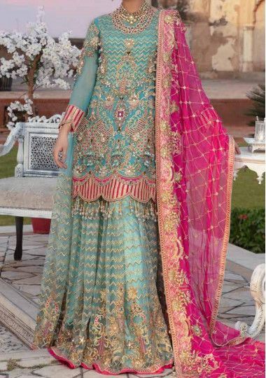 Emaan Adeel Pakistani Master Copy Sharara Dress
