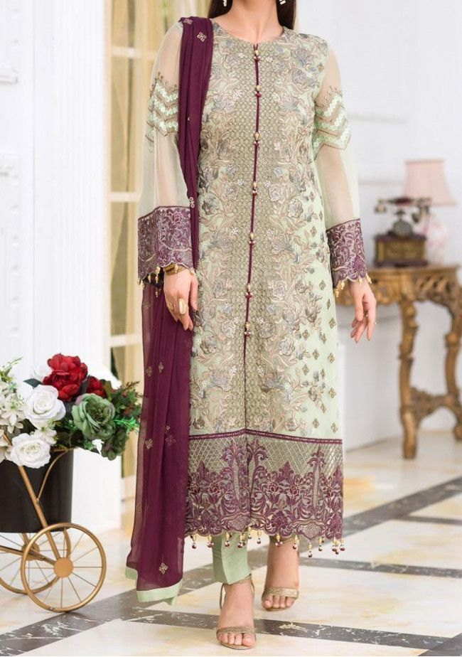 Flossie Embroidered Pakistani Master Copy Dress