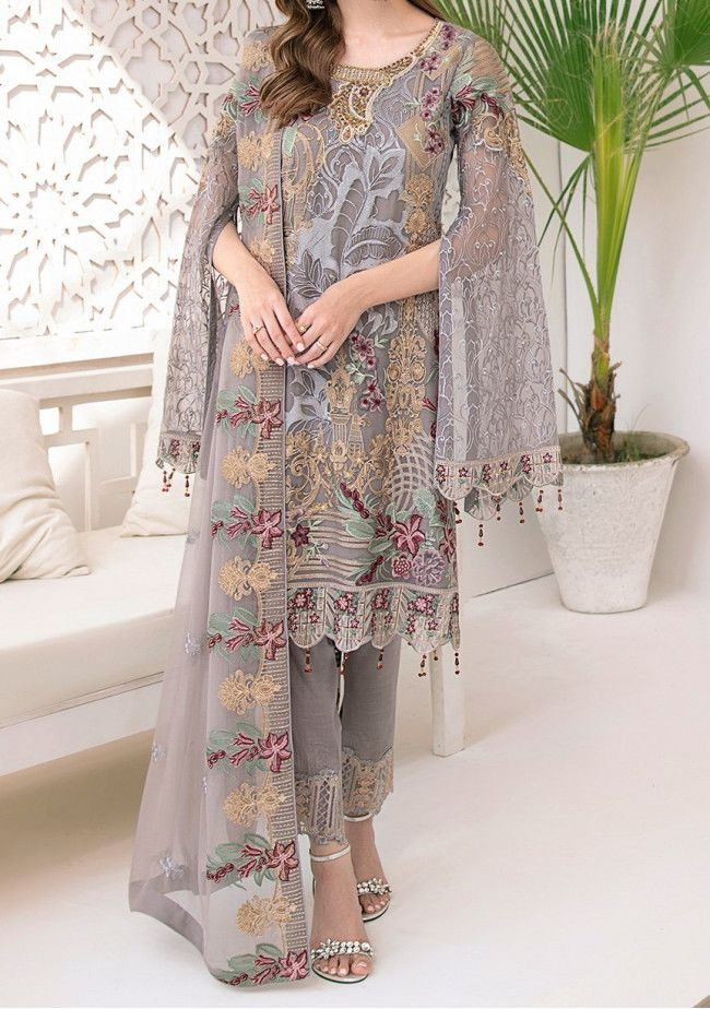 Ramsha Embroidered Pakistani Master Copy Dress