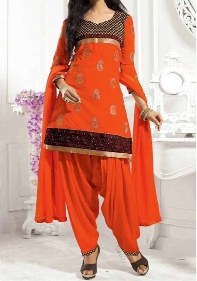 Preet Chanderi Cotton Designer Patiala Salwar Suit