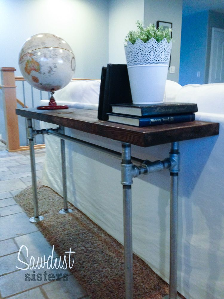 Easy Diy Sofa Table With Pipe Frame