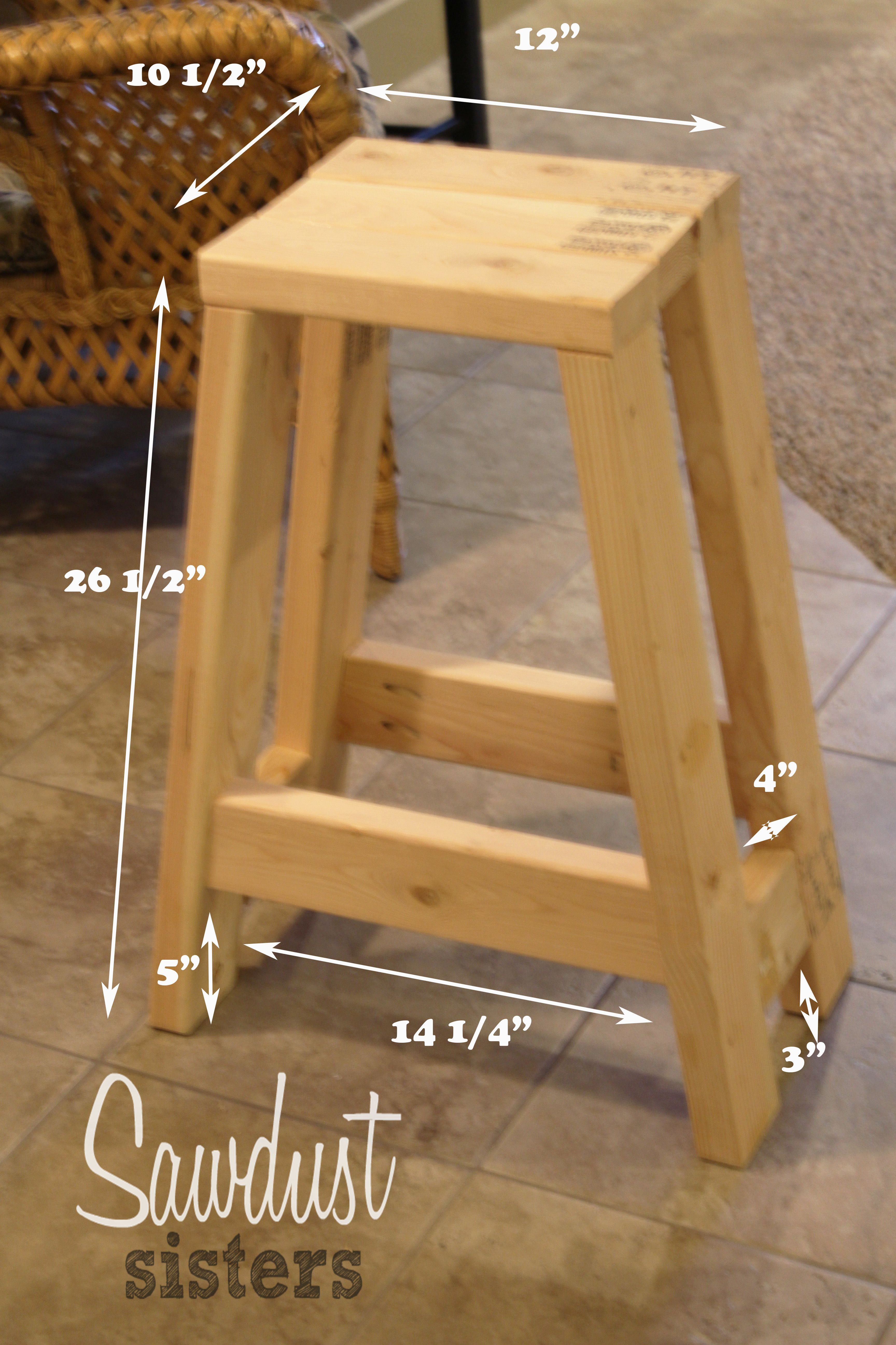 Build a Barstool Using Only 10x10s - Sawdust Sisters