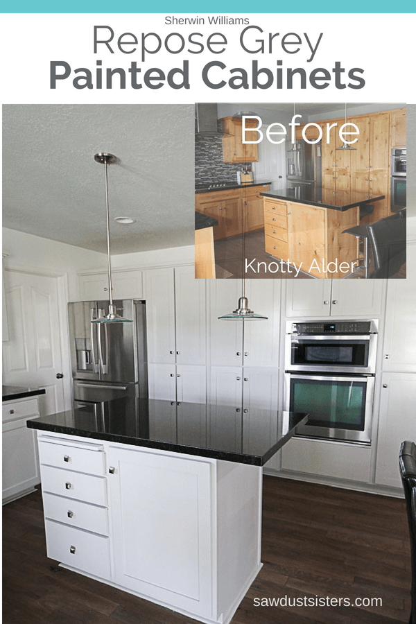 From Knotty Alder To Light Grey Kitchen Cabinets Sawdust Sisters