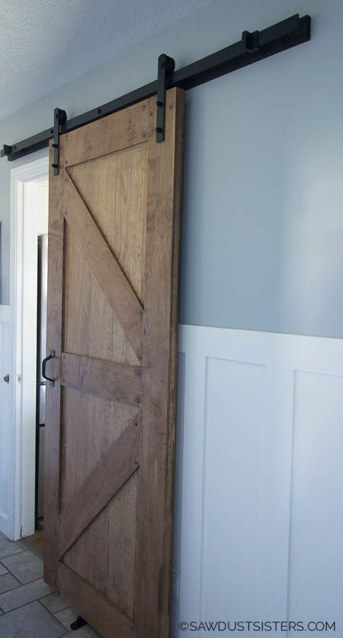 How To Build A Two Sided Barn Door Sawdust Sisters