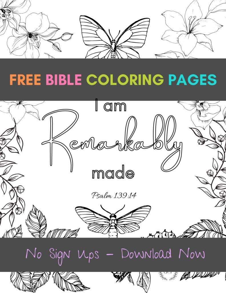 Bible Verse Coloring Pages For Adults Free Printables