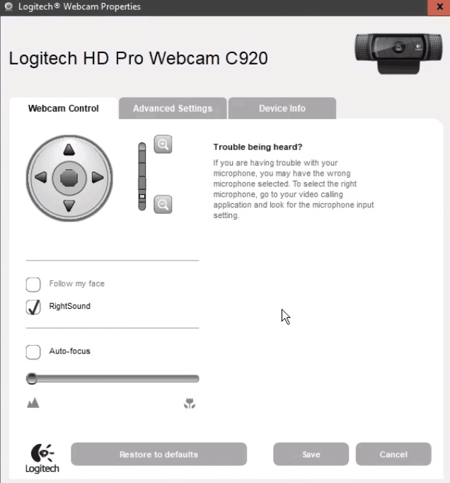 Setup Best Settings For Logitech C920 Go Stream