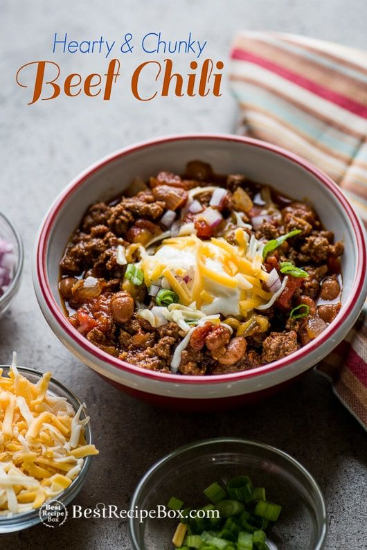 Easy Beef Chili Recipe With Or No Beans Dad S Famous Best Recipe
