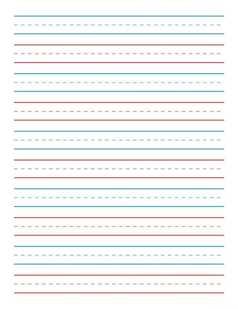 Lined paper for kindergarten writing what are term papers