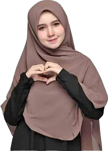 Scarf Chiffon - Light not transparent - Colors Variety- Brown