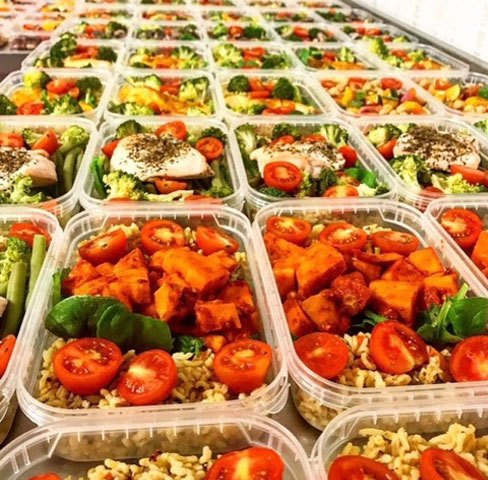 Trays of meals for diet delivery