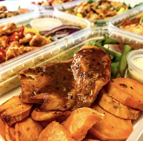 Close up of healthy meal for meal delivery