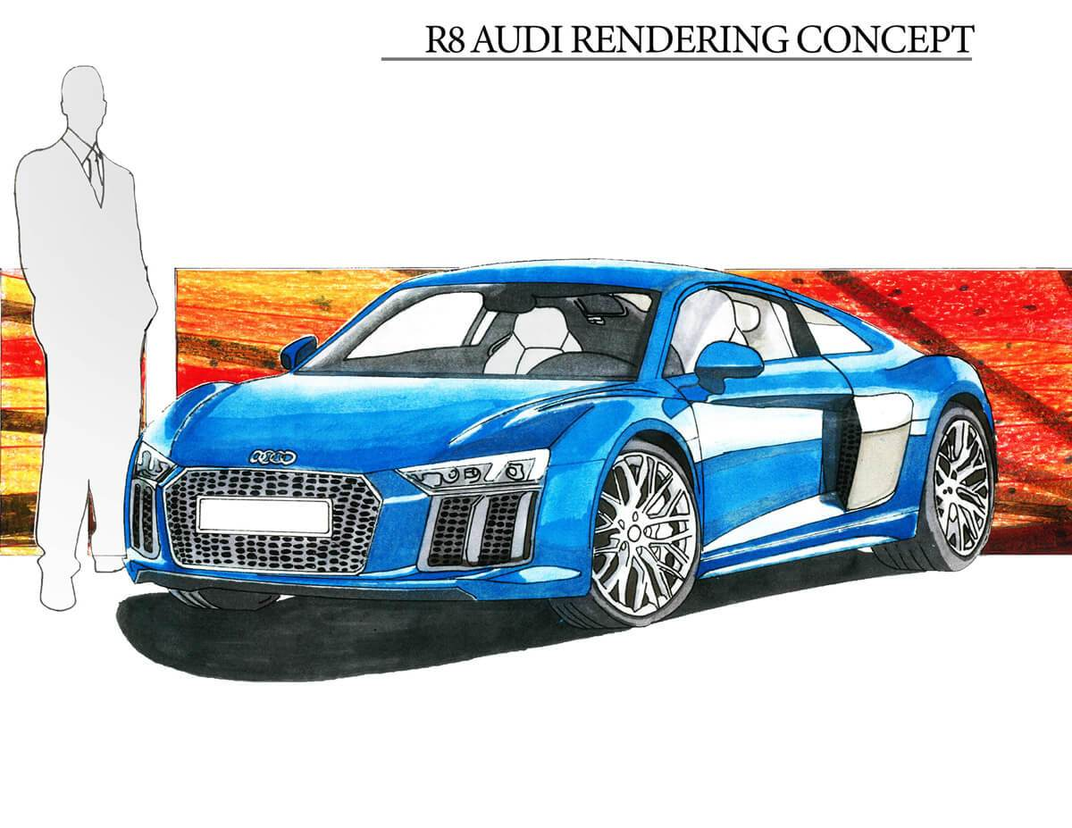 Audi R8 Rendering (1)