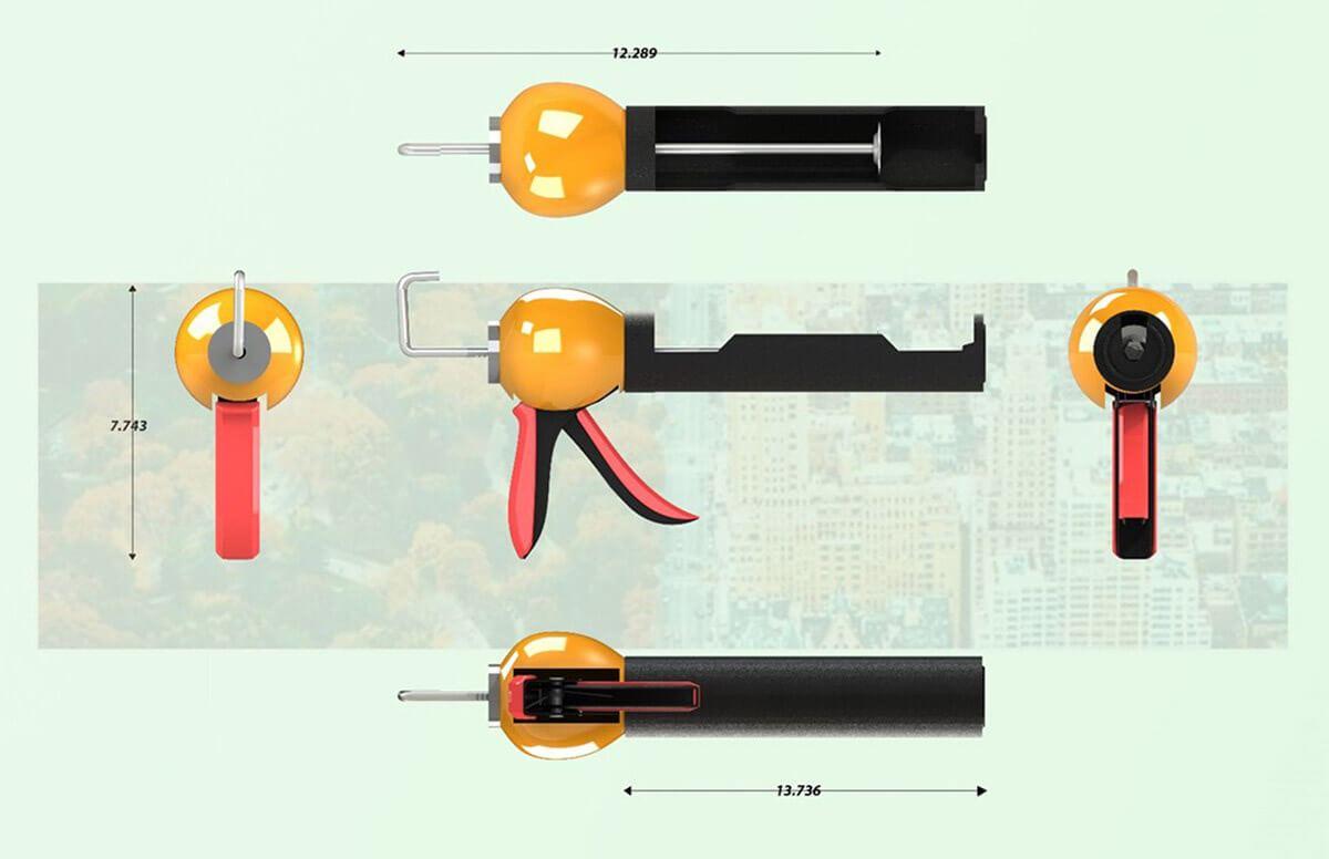 Ergonomic Caulking Gun (2)