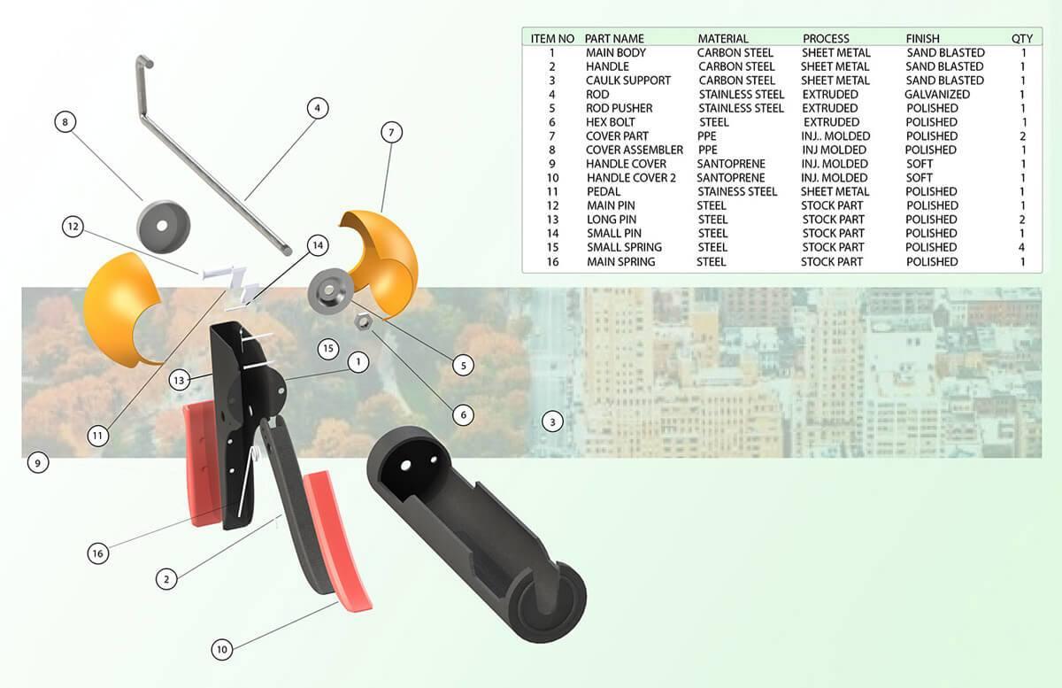 Ergonomic Caulking Gun (3)
