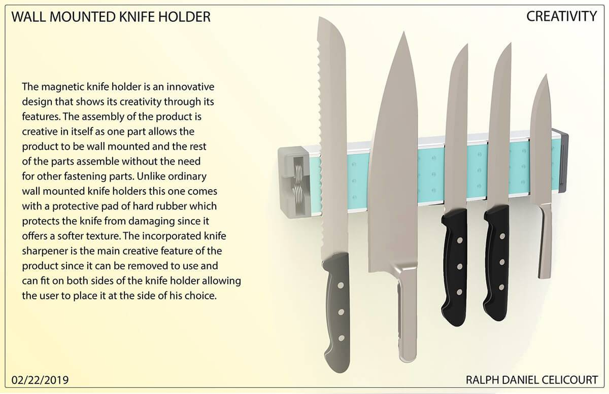 Wall Mounted Magnectic Knife Holder (6)