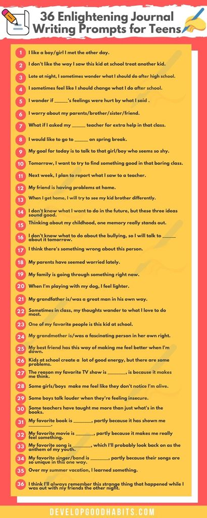 journal prompts for high school | journal prompts for kids | writing prompts for troubled youth