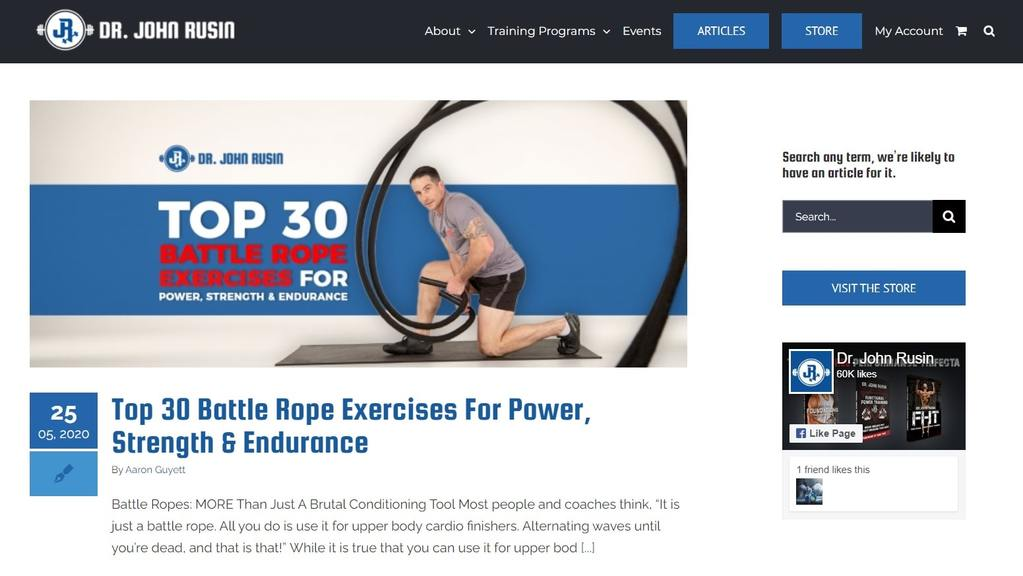 Dr. John Rusin   health and fitness blogs   sports and fitness blogs