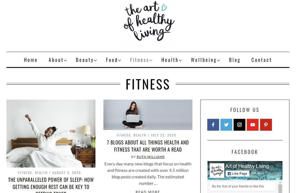 The Art of Healthy Living   best exercise websites   sports and fitness blogs