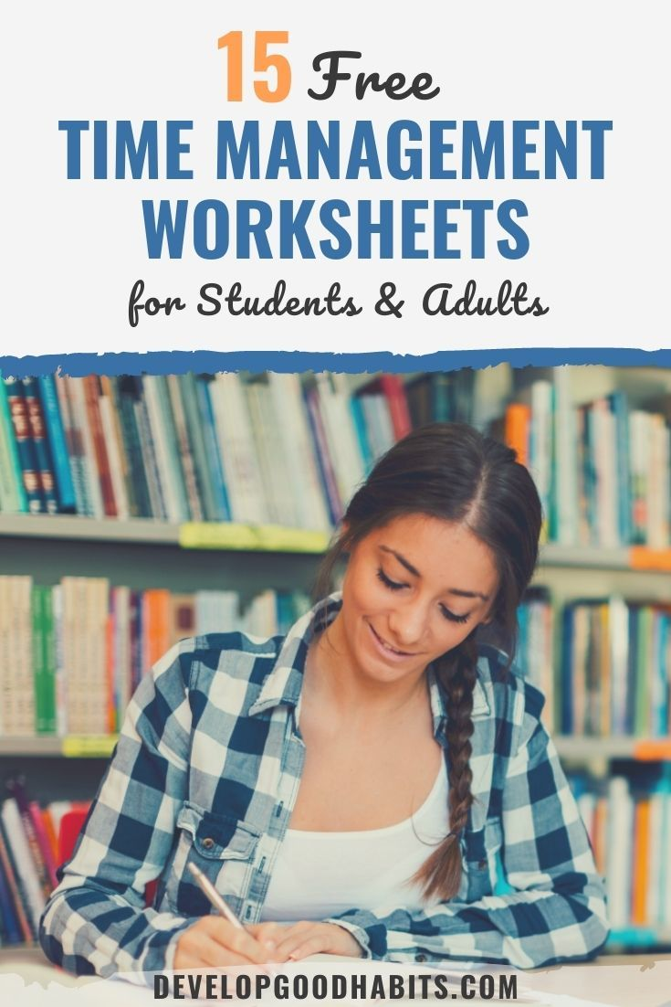 15 Free Time Management Worksheet for Students & Adults