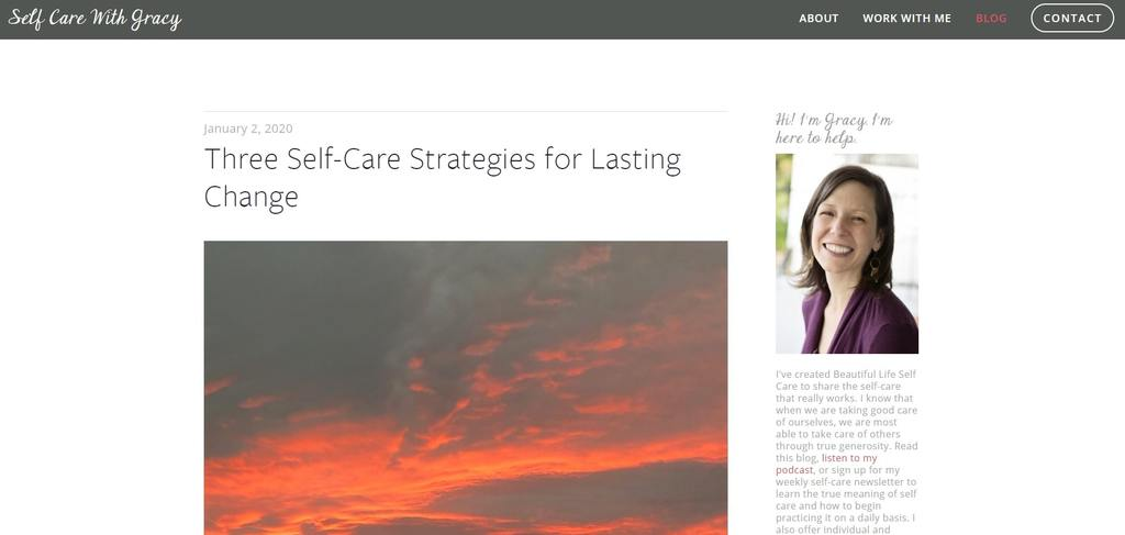 self care with gracy | starting a self care blog | self love and self care blogs