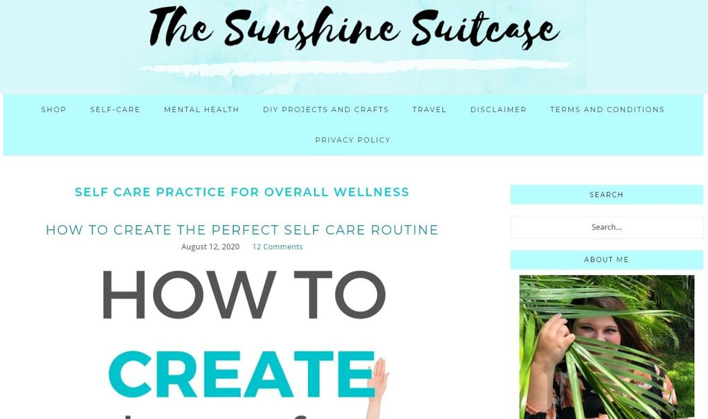 the sunshine suitcase | personal growth blogs | how to make self-care a habit