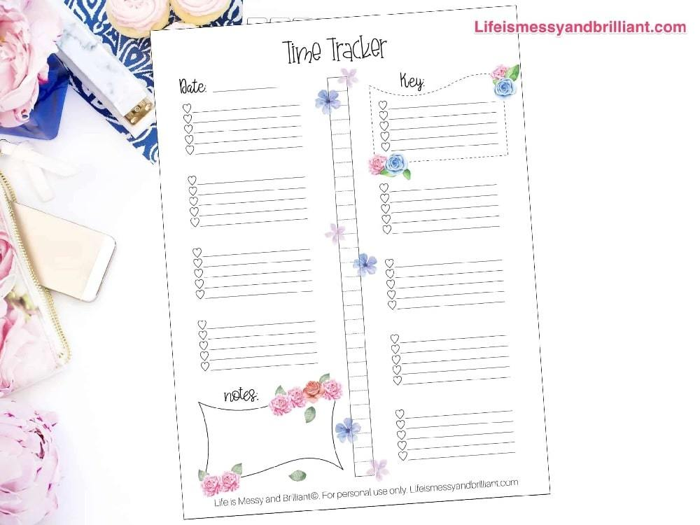 bullet journal time tracker printable | time management worksheet answers | time management worksheet word document