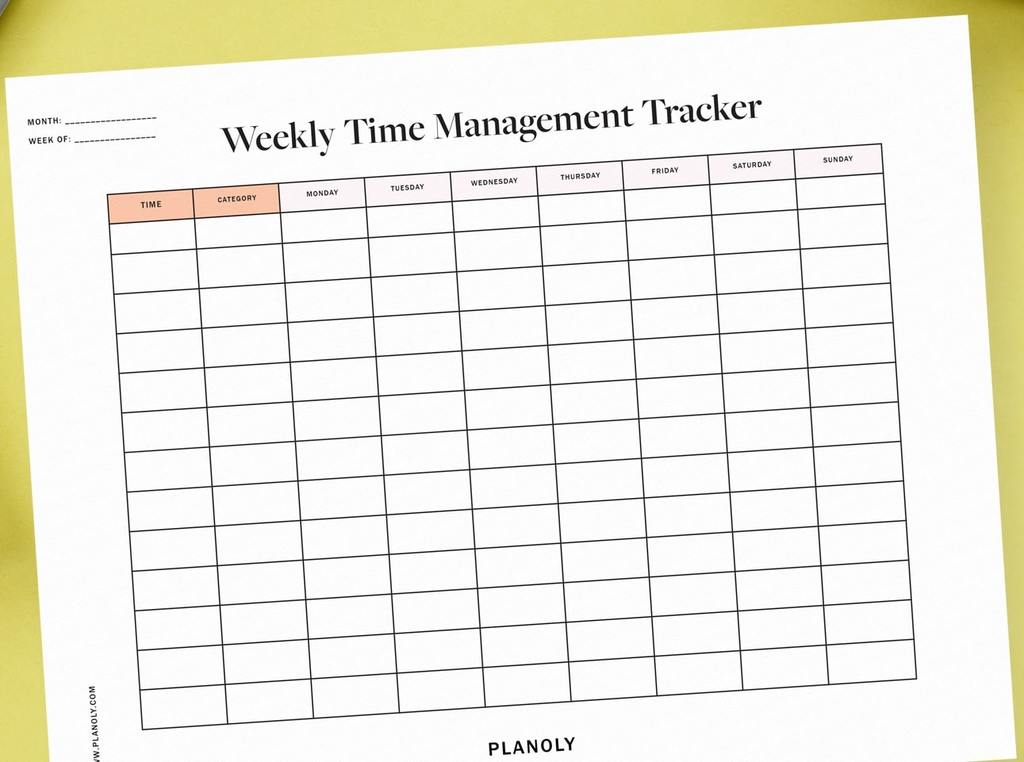 weekly time management tracker | time management worksheet example | time management worksheet answers