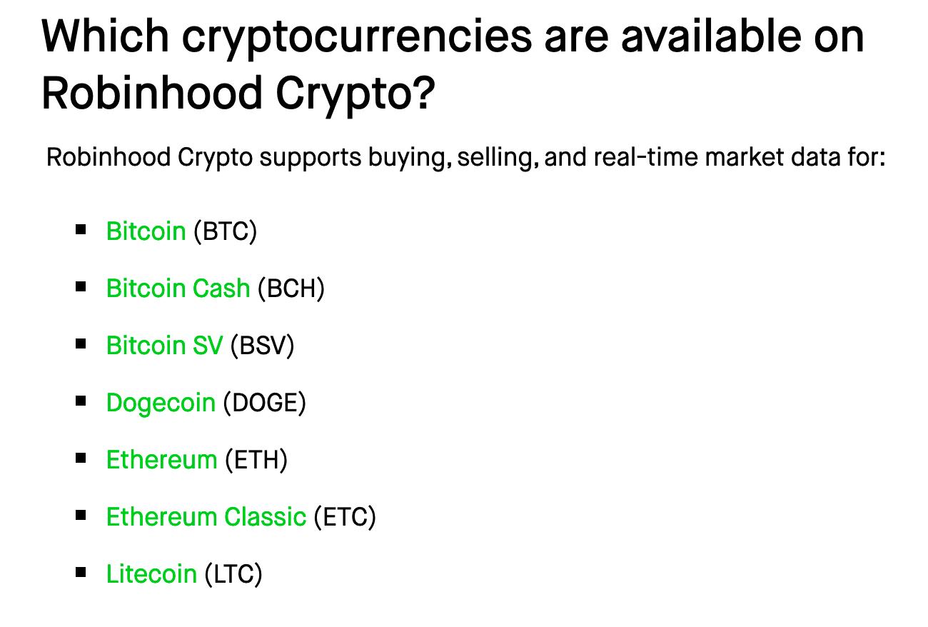 avaliable-crypto-on-robinhood